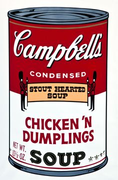 Andy Warhol (American, 1928-1987), 'Chicken �€™n Dumplings,' 1969. From the series Campbell�€™s Soup II, 1969. Color screenprint on paper, 35 by 23 inches. Ulrich Museum of Art, Wichita State University, Wichita, Kansas. Museum Purchase with WSU Student Government Association funds