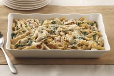 What's not to love? Chicken, spinach and two kinds of cheese are baked with multi-grain pasta for a totally satisfying—and better-for-you—take on an Italian favorite.