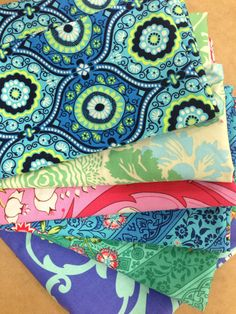 Amy Butler fabrics all from Fabric Traders.