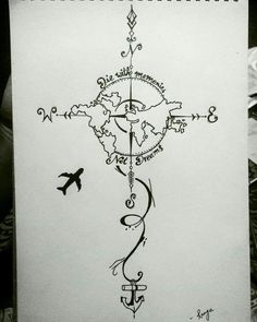 28 Ideas For Travel Drawing Compass Tattoo Designs Tattoo Drawings, Body Art Tattoos, Art Drawings, Map Tattoos, Tatoos, Globe Tattoos, Tattoo Posters, Tattoo Sketches, Tattoo Style