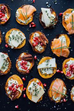 sweet potato crostini - so good you won't even miss the bread!