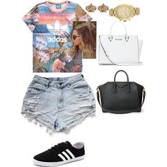 Summer days by barbie-mayhem on Polyvore featuring polyvore, fashion, style, adidas, adidas NEO, Givenchy, MICHAEL Michael Kors, Michael Kors and Juicy Couture