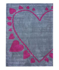 Take a look at this Gray & Pink XoXo Rug by nuLOOM on #zulily today!