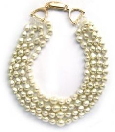 Equestrian Style Necklace by Caracol - Inspired Jewelry and Handbags - Equestrian Pearl Necklace with Snaffle Bit Closure, $149.00 (http://www.caracolsilver.com/equestrian-pearl-necklace-with-snaffle-bit-closure/)