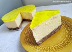 Sernik z mango i bananem Mango, Cheesecake, Desserts, Food, Manga, Tailgate Desserts, Deserts, Cheesecakes, Essen