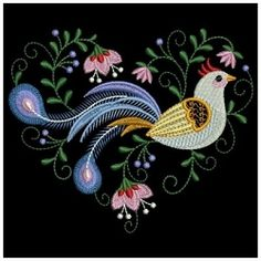 Decorative Birds 10 - 3 Sizes! | What's New | Machine Embroidery Designs | SWAKembroidery.com Ace Points Embroidery