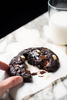 Keto double chocolate chip cookies.