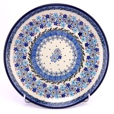 Polish pottery - nice dessert plate, how do you like it? This pattern is probably quite new and I love it!