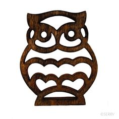 Made in northern India, where wood carving is a traditional craft, this fun owl trivet was created by an artisan who began working on his own designs.