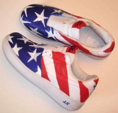 Stars and Stripes Custom Painted AF1 Sneakers