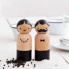 Salz- und Pfefferstreuer Mr. und Mrs.