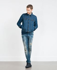 ZARA - MAN - JEANS WITH LEATHER COIN POCKET