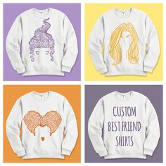 Sanderson Sister Winifred - matching best friend shirts for the Sanderson Sisters. Be a witch this Halloween in these super cute graphic tees for all your BFFS. Winifred Sanderson, Mary, and Sarah!