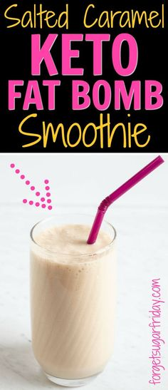 This Salted Caramel Keto Smoothie is thick, sweet, slightly caffeinated, and only contains ONE gram of net carbs! This keto recipe is loaded with keto-friendly fats to keep you full and tastes SO good. Check the post to learn about th Keto Smoothie Recipes, Low Carb Smoothies, Ketogenic Recipes, Ketogenic Diet, Keto Breakfast Smoothie, Ketogenic Breakfast, Drink Recipes, Paleo Keto Recipes, Ketosis Diet