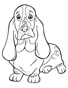 #Basset #Hound #coloring page