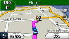 Honduras GPS Map for Garmin Copan Ruins driving directions