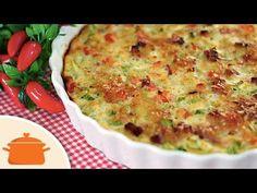 PANELATERAPIA - Blog de Culinária, Gastronomia e Receitas: Torta de Bacon e Abobrinha