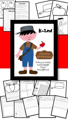 Great activities about Johnny Appleseed!! K-2