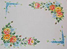 pintura em tecido toalha mesa