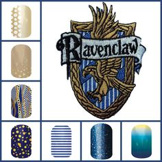 Harry Potter inspired Ravenclaw Jamberry Jen Carey - Jamberry  Independent Consultant  Shop online at http://jamicureswithjen.jamberrynails.net/