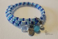 Colorful #Beaded #Bracelet with  #charm by CarriesCreativeChaos, $16.00 #etsy