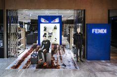 The Fendi men's pop-up displayed at Yurakucho-Hankyu, Tokyo.