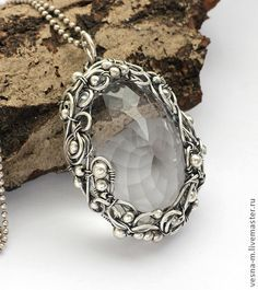 "Pendants handmade. Fair Masters - handmade pendant ""Khan"" of silver and quartz. Handmade."