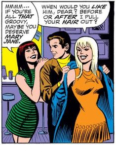 Mary Jane, Peter and Gwen from Amazing Spider-Man #82