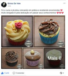 (dup) Cupcake da Si para Iniciantes 2.0 — Confeitaria OnLine Oficial Cupcakes Flores, Chips, Disney Food, My Recipes, Nutella, Baking, Desserts, Cup Cakes, Make And Sell
