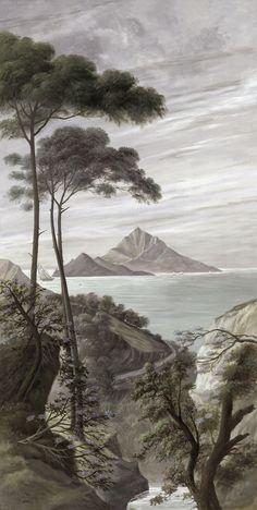 Paysages en grisaille - Capri grisaille - 151x300cm ultra mat 295.00 €