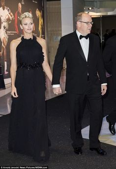 Be a princess in a halterneck black gown like Charlene of Monaco #DailyMail