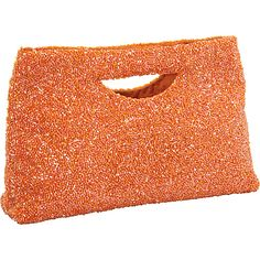 Moyna Handbags Small Rectangle Clutch Orange - Moyna Handbags Fabric Handbags