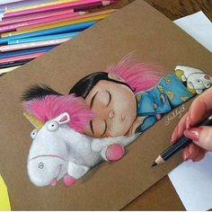 agnes and unicorn sketch
