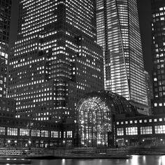 World Financial Center Harbor, NYC, Fuji Neopan Acros 100 by Shawn Hoke, via Flickr