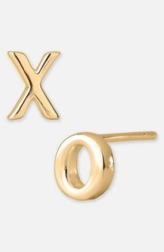 Argento Vivo 'Love' Stud Earrings (Nordstrom Exclusive) | Nordstrom