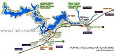 Map of Plitvice Lakes National Park