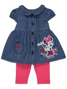 Disney Minni Hiiri vauvan farkkumekko ja legginsit setti