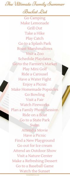 The Ultimate Family Summer Bucket List. Click through for a pdf version plus a customized family bucket list to create your own!