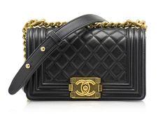 Chanel Small Lambskin Boy Bag