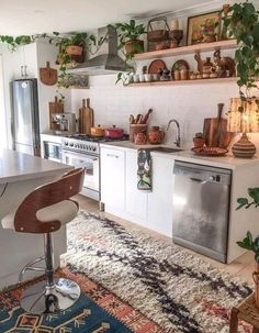 Home Decor Bedroom .Home Decor Bedroom Boho Kitchen, Home Decor Kitchen, Rustic Kitchen, Country Kitchen, New Kitchen, Kitchen Ideas, Kitchen Plants, Kitchen Taps, Family Kitchen