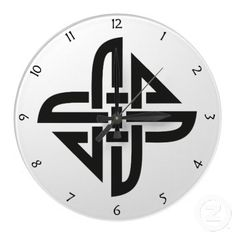 Celtic Knot 4-point, Wall Clock