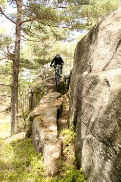 Technical challenge on the Blueberry Trail. Rider: Leo Ranta. Photo: Greg Heil