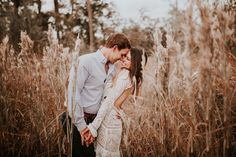 Obsessed with the boho wedding gown this bride is rockin' | Image by Madeleine Frost