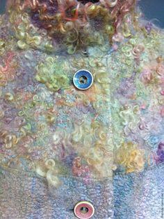 """Купить пальто """"Туман"""" - сиреневый, абстрактный, пальто женское, пальто из…"""