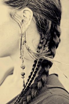 Fine art photograph of a beautiful woman ear.