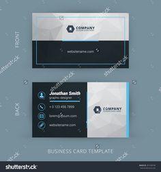 Blank business card template for mac business cards pinterest vector modern creative and clean business card template wajeb Choice Image