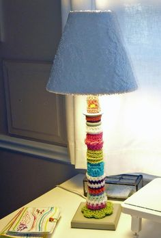 Looking for crocheting project inspiration? Check out Crochet-bombed Lamp by member Marie Withrow. - via @Craftsy
