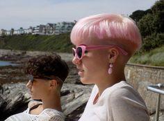 Hair Color Pink, Blue Hair, Hair Inspo, Hair Inspiration, Bowl Haircuts, Dying Your Hair, Girls Short Haircuts, Haircut And Color, Bowl Cut