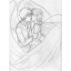 the afterlife ❤ liked on Polyvore featuring drawings, art, couples, drawing, fillers, doodle and scribble