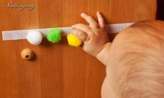 Klett-Pompom – Baby Care Tips Infant Activities, Activities For Kids, Baby Play, Baby Kids, Diy Bebe, Baby Co, Baby Care Tips, Games For Toddlers, Baby Quotes